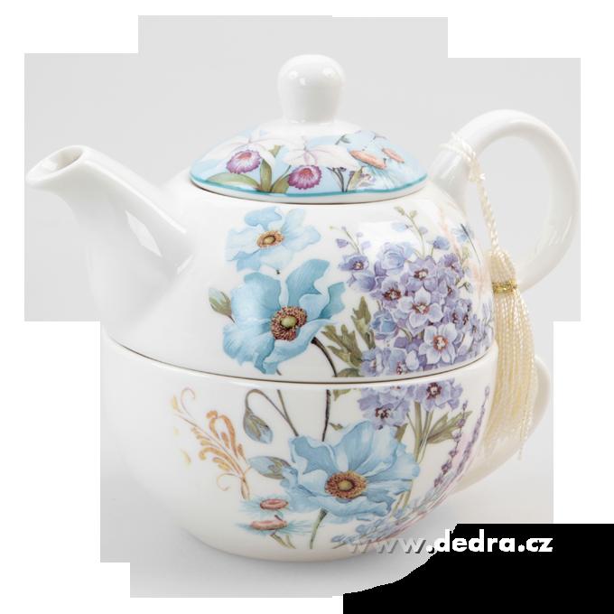 Čaj pro jednoho dárková sada BLUE FLOWERS