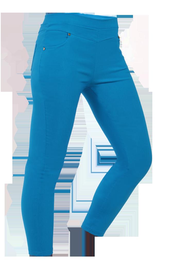 NADIA LONG elastické kalhoty nebesky modré velikost XS/S