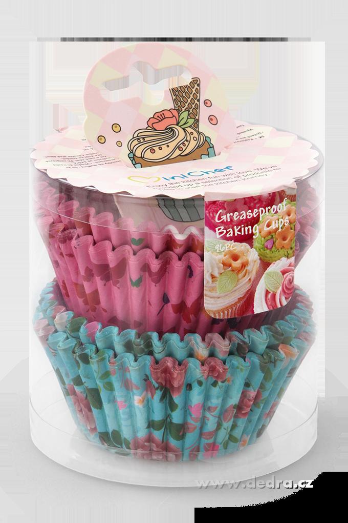 Cupcakes košíčky formičky papírové na muffiny 96 ks