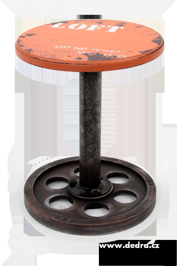 Kulatá židle LOFT, na kovové noze