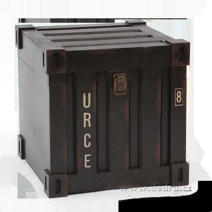 Úložný box/bedna, dřevěný čtvercový
