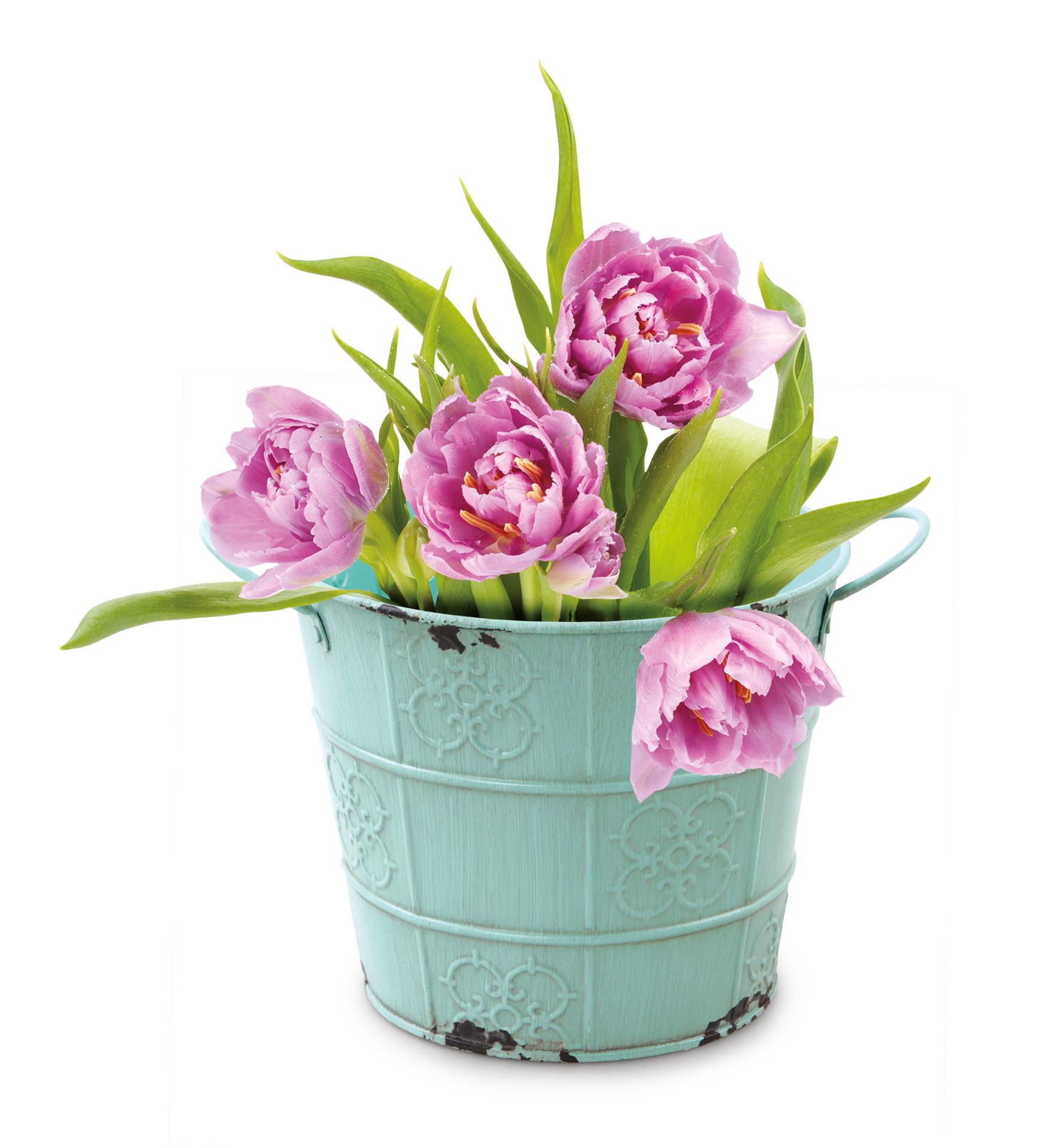 XXL Deko obal na květináč, kovový s patinou
