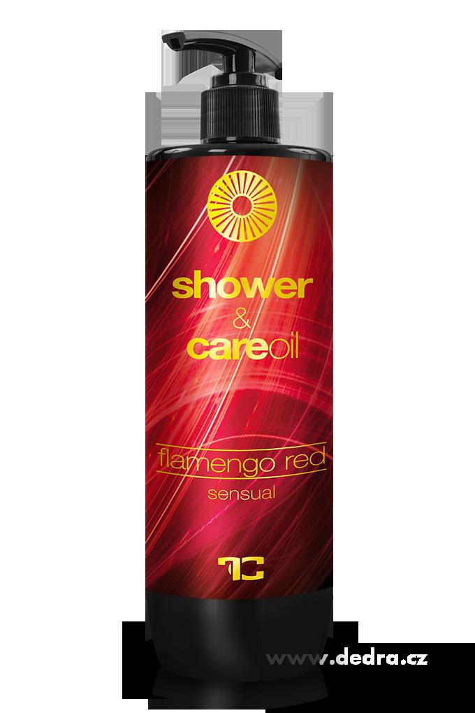 Sprchový gel 500 ml s olejem, sensual FLAMENGO RED