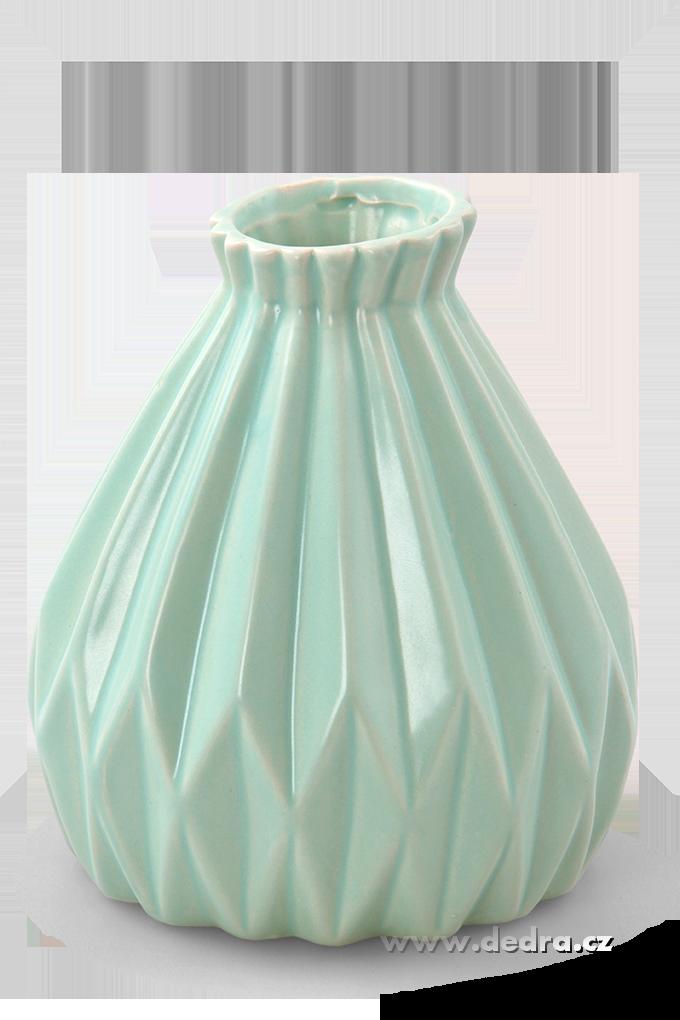 Dekorativní váza keramická reliéfní mintová