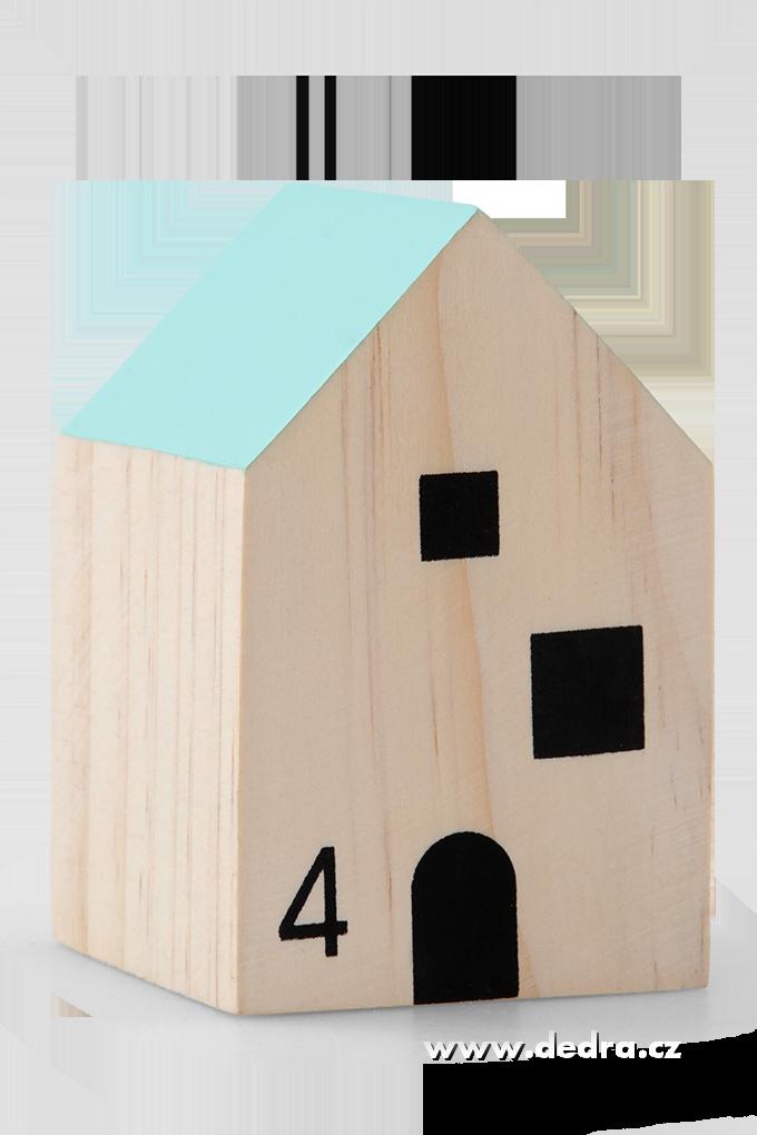 Dřevěný domekminotová střechadekorace