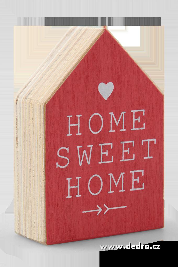 Dřevěný domek nápishome sweet home
