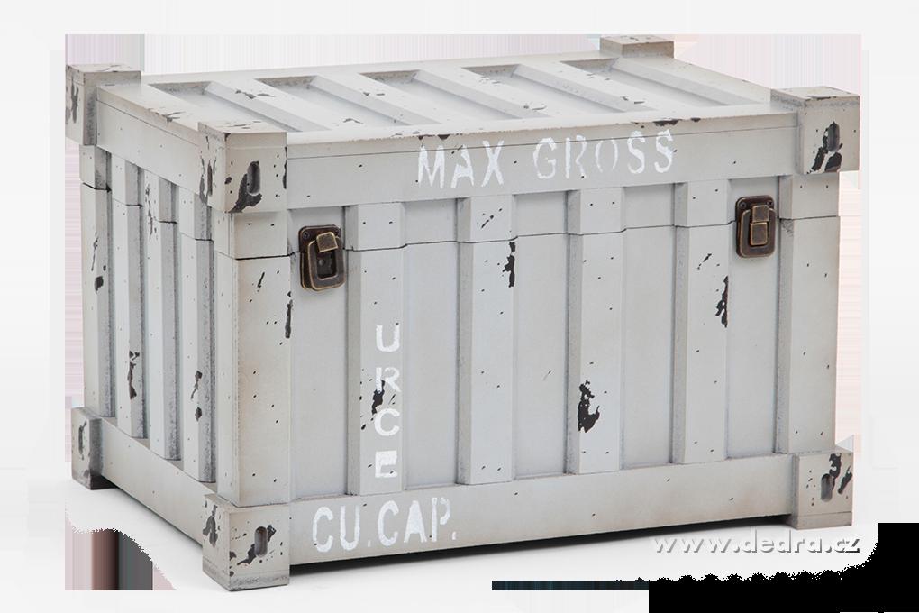 Úložný box/bedna, v designu kontejneru