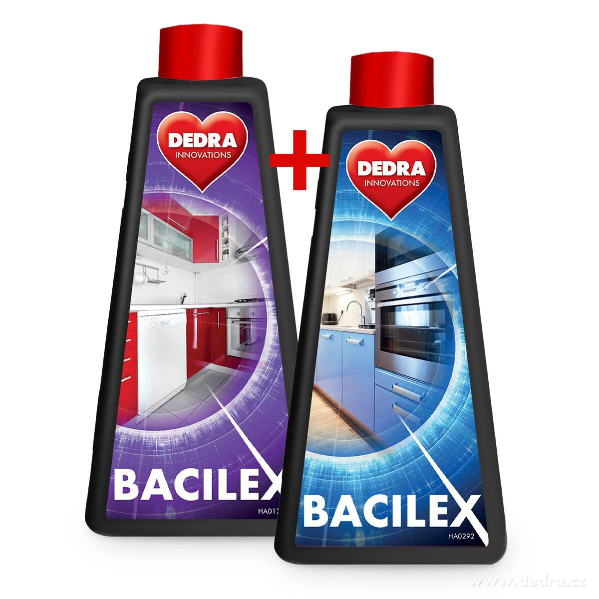 2 ks BACILEX® s vysokým obsahem alkoholu 70 %, náhradní náplně, bez rozprašovače