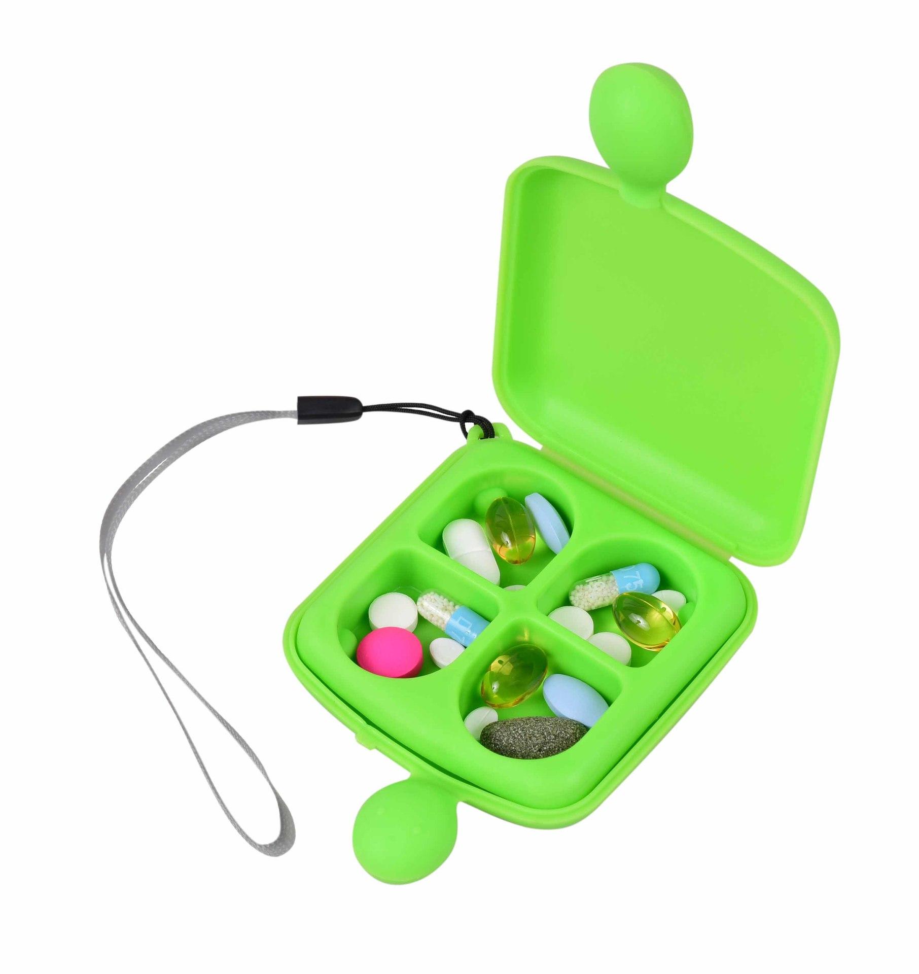 Vitamínovník, zásobník na léky a vitamíny, zelený