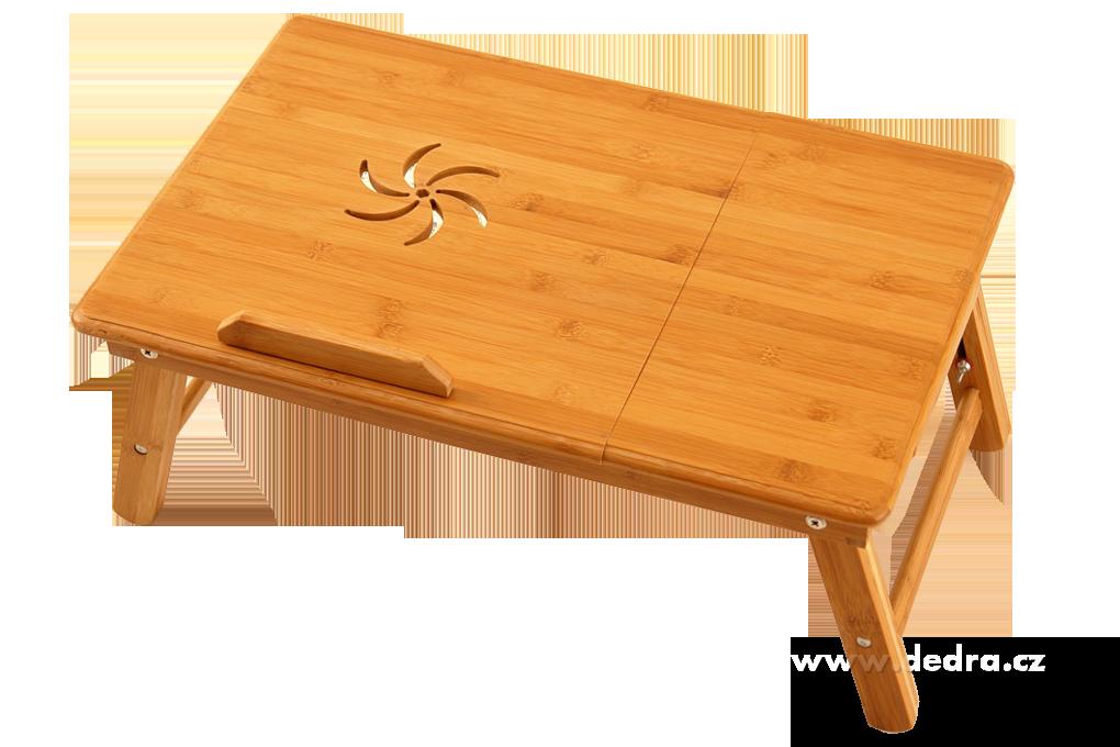 Bambusový stolek pod notebook i na snídani do postele
