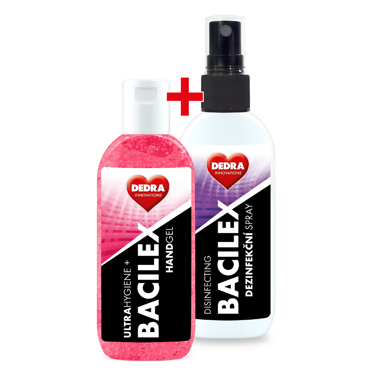 1+1 ZDARMA sada BACILEX® gel na ruce + SPRAY 100 ml