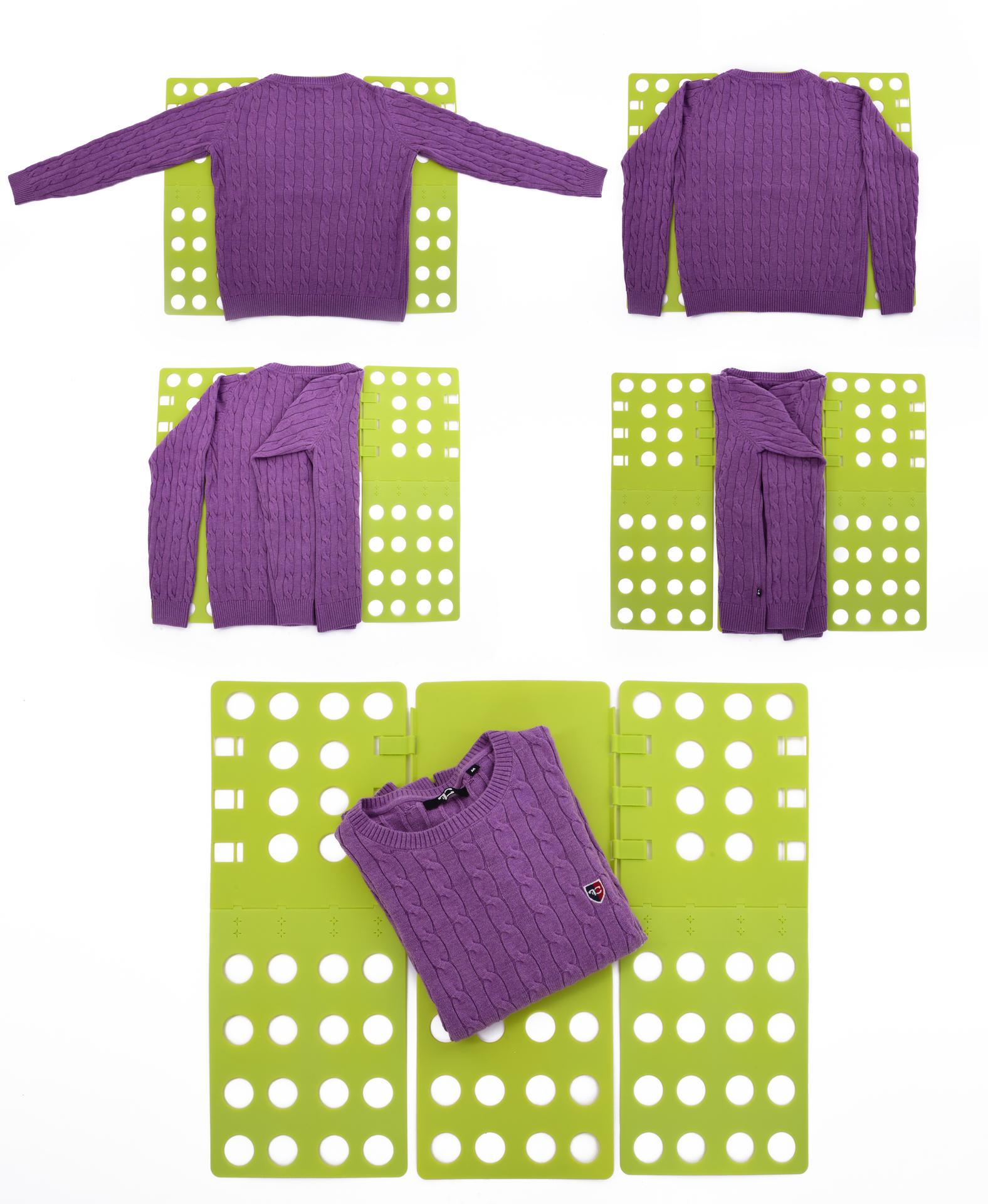 Textilo-skládač, skládá trička,košile