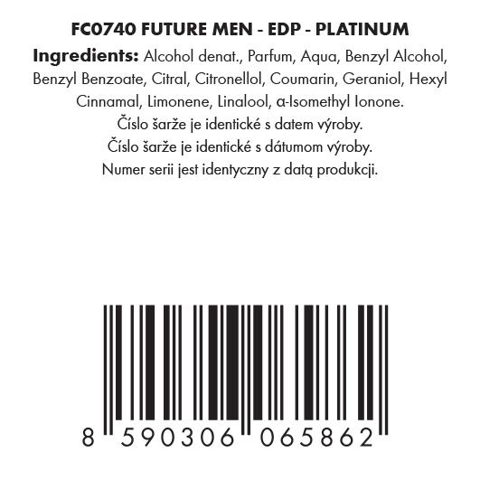 Sada 1+1 FUTURE MEN® PLATINUM EDP + ANTIPERSPIRANT 3v1 ZDARMA