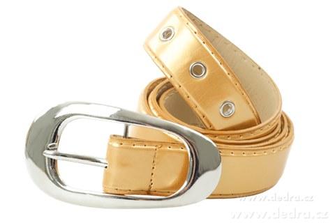 DA4537-Dámsky opasok zlatý lesklý dĺžka: 125 cm