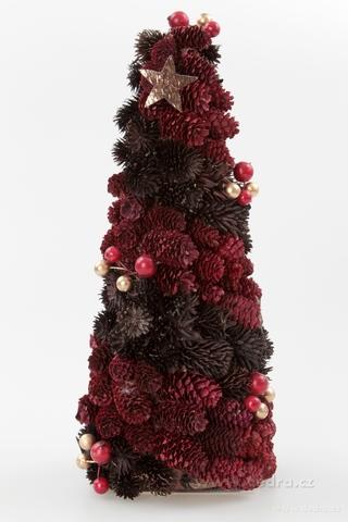 DA6419-35 cm dekoratívne stromček, zo šišiek a lesných plodov