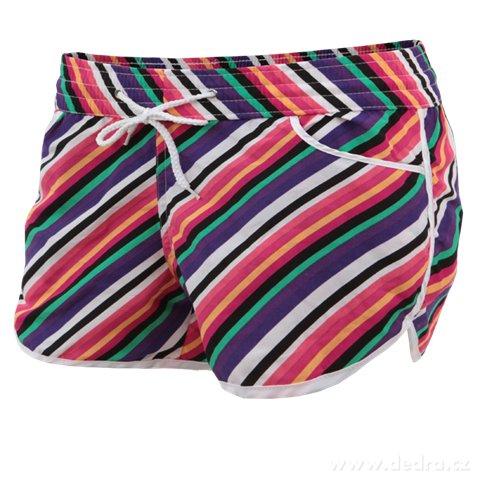FC7542S-NICOLE dámske šortky multicolor stripes