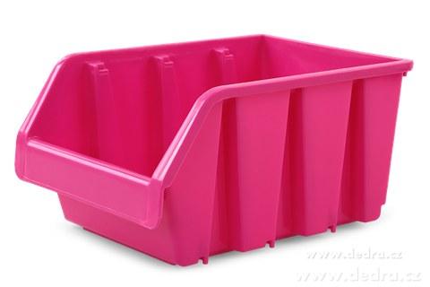 DA83801-Štosátor úložný box stohovateľný ružový