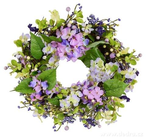 DA84521-45 cm dekoratívne kvetinový veniec