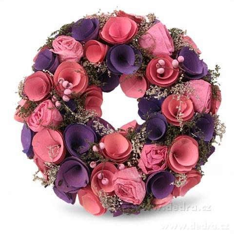 DA84526-23 cm dekoratívne kvetinový veniec
