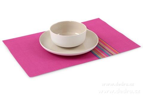 DA78833-Omyvatel.prostírání s farebnými pruhmi ružovej