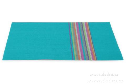 DA78834-Omyvatel.prostírání s farebnými pruhmi tyrkysové