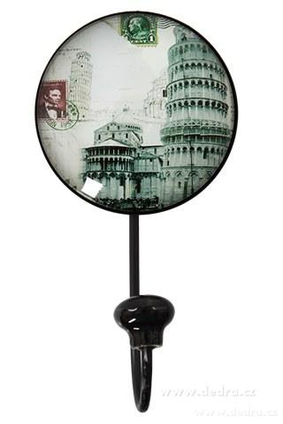 DA85524-XXL vešiak / háčik plastický 3D efekt 15 cm Šikmá veža