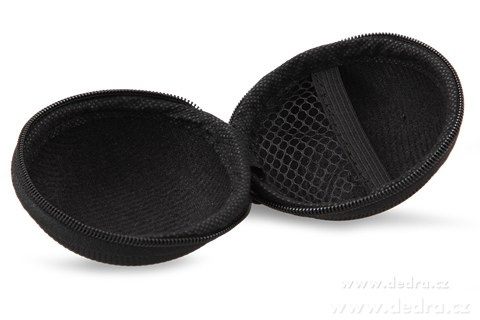 DA86351-Puzdro na slúchadlá pevné so zipsom čierne
