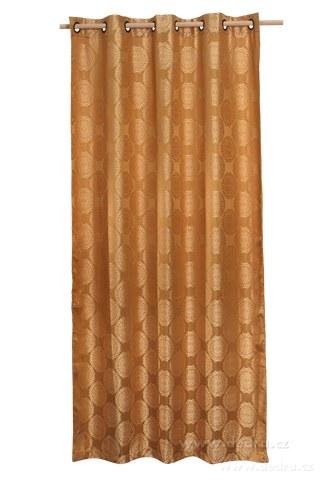 DA10251-Jacquard rings žakárové tkaný záves pieskovo zlatý
