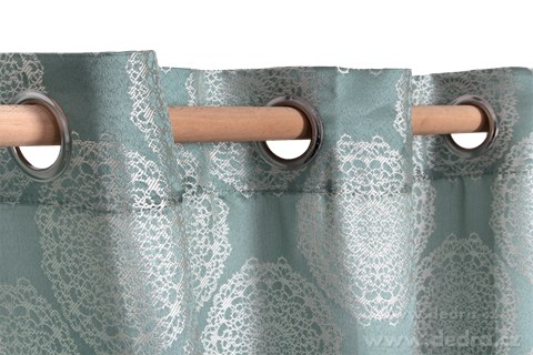 DA10252-Jacquard rings žakárové tkaný záves ľadovo modrý