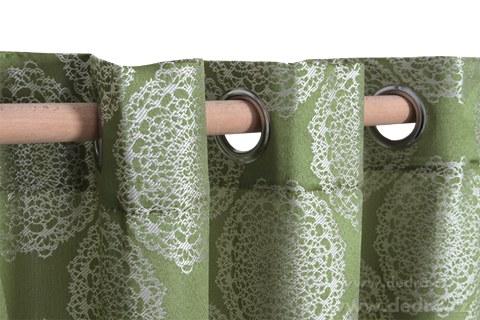 DA10254-Jacquard rings žakárové tkaný záves olivový