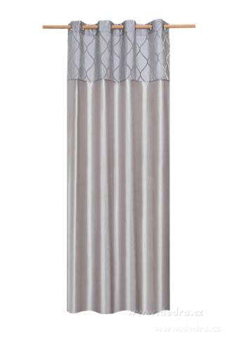 DA10281-Silk decor dekoratívne záves šedo-strieborný