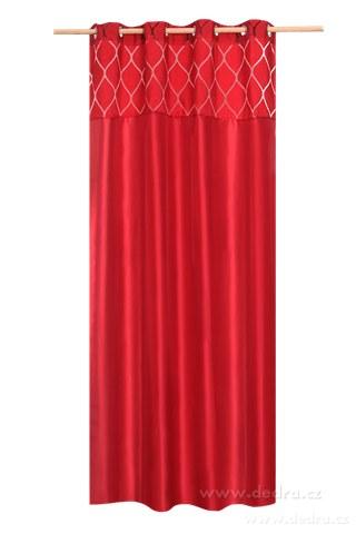 DA10282-Silk decor dekoratívny záves červený