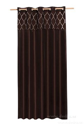 DA10284-Silk decor dekoratívny záves čokoládový