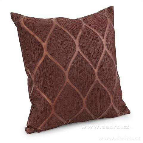 DA10294-Silk decor poťah na vankúš čokoládový