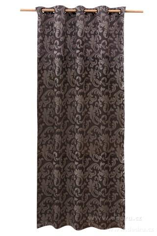 DA10301-Jacquard ornament žakárové tkaný záves strieborný