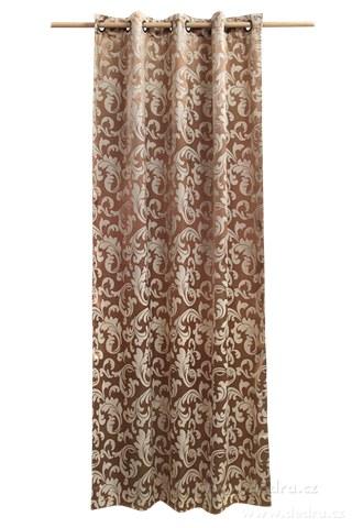 DA10303-Jacquard ornament žakárové tkaný záves bronzový