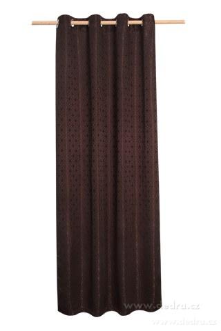 DA10341-Žakárové tkaný záves horká čokoláda