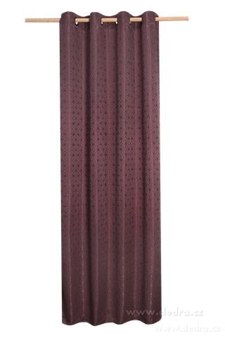 DA10344-Žakárové tkaný záves hnedo-fialový