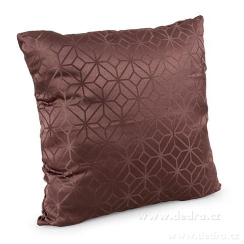 DA10351-Poťah na vankúš z pevnej tkaniny horká čokoláda