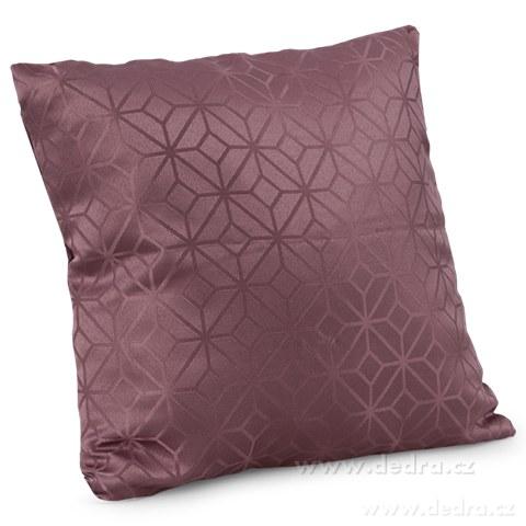 DA10354-Poťah na vankúš z pevnej tkaniny hnedo-fialový