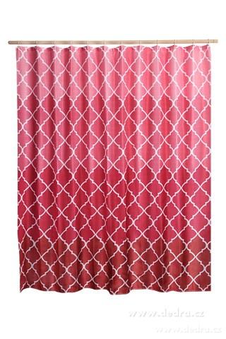 DA10381-Kúpeľňový záves s impregnáciou červeno ružový