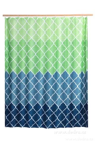 DA10382-Kúpeľňový záves s impregnáciou modro zelený
