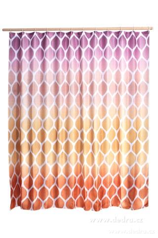 DA10383-Kúpeľňový záves s impregnáciou oranžovo fialový
