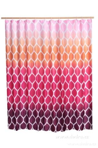 DA10384-Kúpeľňový záves s impregnáciou fialovo ružovo oranž
