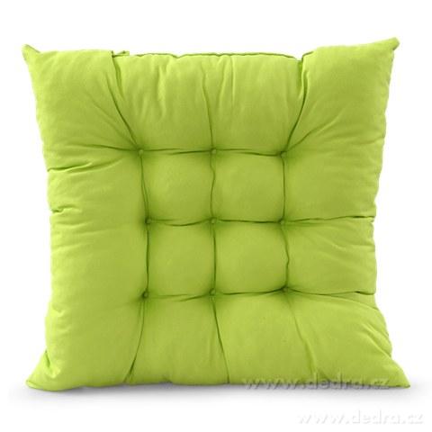 DA8698-Sedák prešívaný na stoličky a kreslá polstrovaný zelený