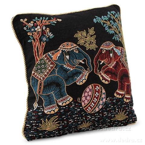 FC8748-Gobelíny poťah na vankúš obojstranný polnočnú slony