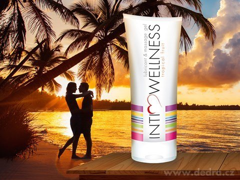 IW8736-INTIMWELLNESS lubrikačný a masážny gél tropical fruits