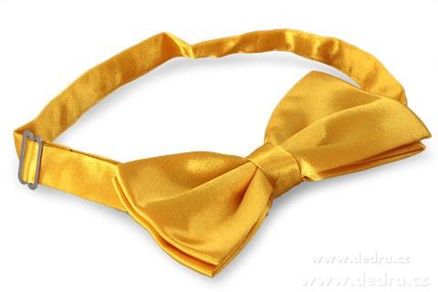 FC88046-Saténový motýlik žltý