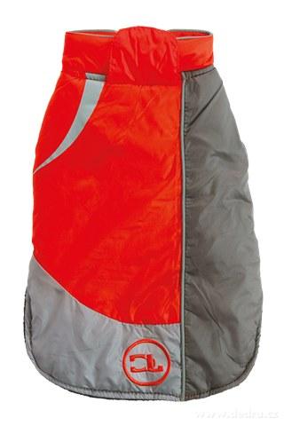 FC88081-Športové bundička pre psíkov oranžovo-šedá