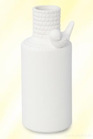 DA89111-Porcelánová váza s aplikáciou Vtáky väčšou
